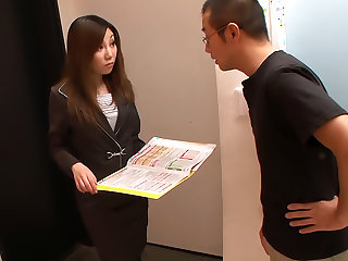 New assistant Yuria Kanno shows her oral skills