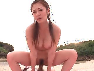 Precious amateur Minori Hatsune enjoys her sex toys