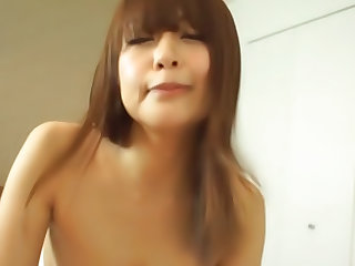Beautiful Japanese chick Maika gets cum all over her hot body