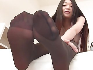 Japanese in Black pantyhose