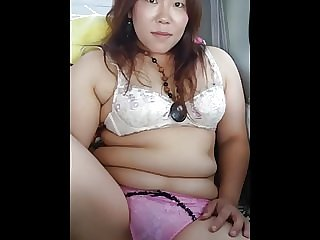 Chubby triple belly Japanese  wife Misaki Cuckold Hotel