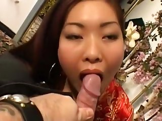 Japanese Girl Sucks And Rides Dick